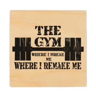 Gym Motivation Maple Wood Coaster