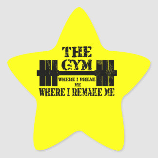 Gym Motivation Star Sticker
