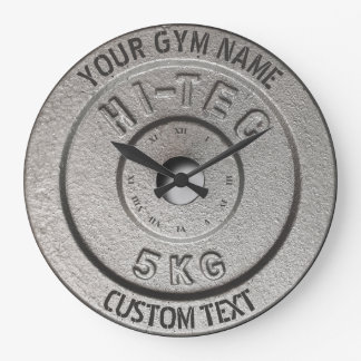 Gym Owner or User Fitness Funny Grey Edition Large Clock