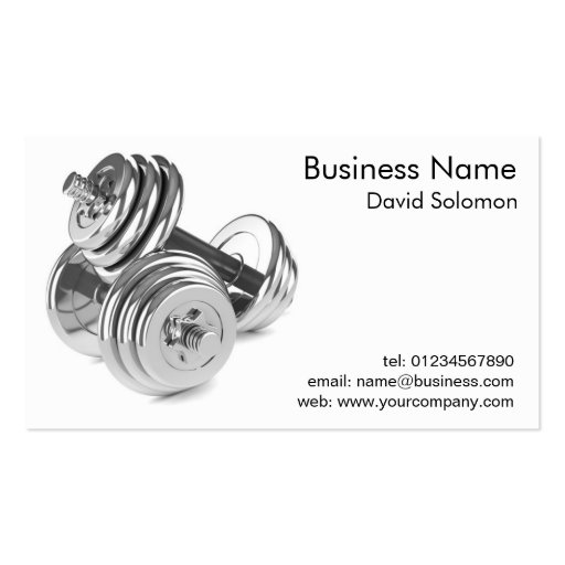 Gym Personal Fitness Trainer Business Cards