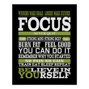 Gym poster, Motivational Exercise personal trainer Poster