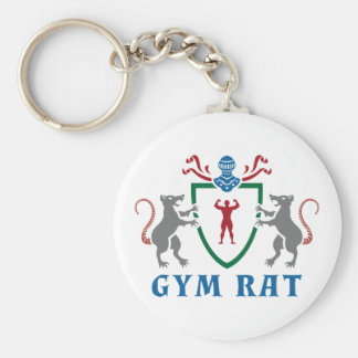 Gym Rat Blazon Keychain