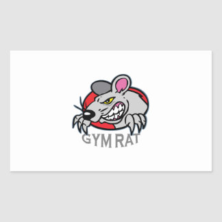 GYM RAT RECTANGULAR STICKER