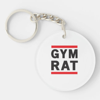 Gym Rat Single-Sided Round Acrylic Key Ring