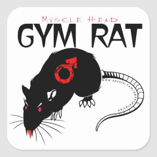 Gym Rat Square Sticker