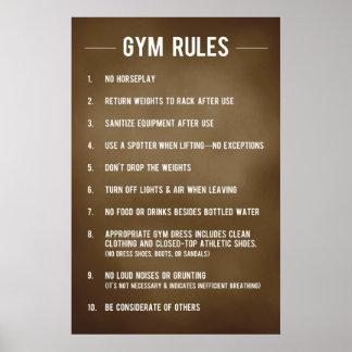 Gym Rules Print