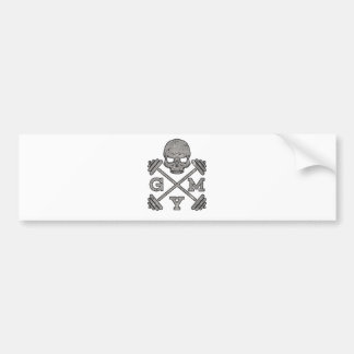 Gym Skeleton Poster Sport Fitness Bumper Sticker