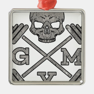 Gym Skeleton Poster Sport Fitness Christmas Ornament