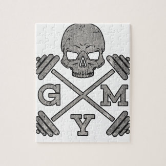 Gym Skeleton Poster Sport Fitness Jigsaw Puzzle
