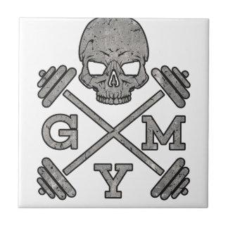 Gym Skeleton Poster Sport Fitness Tile