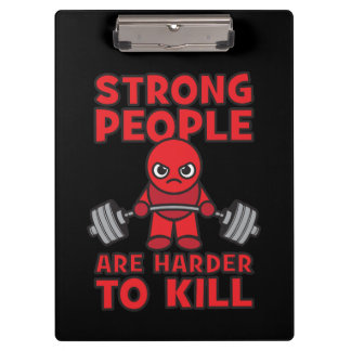 Gym - Strong People Are Harder To Kill - Kawaii Clipboard