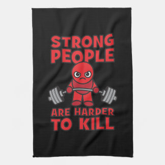 Gym - Strong People Are Harder To Kill - Kawaii Tea Towels
