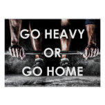 Gym Weights Training Fitness Motivational Poster