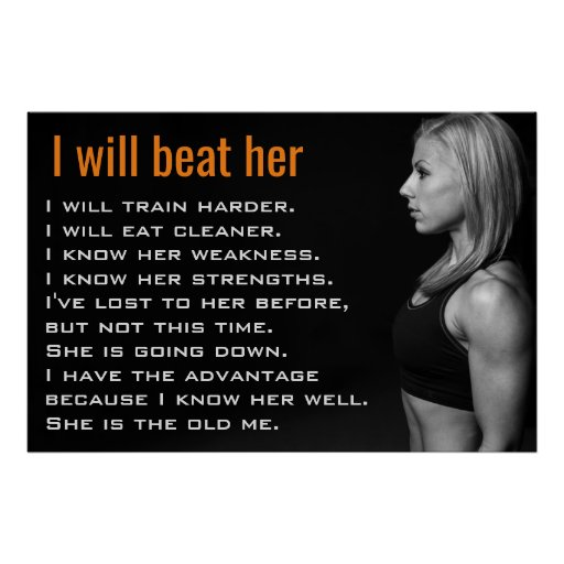 Gym Woman Muscles | Girl Workout Motivation Poster