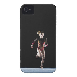 Gymnast (12-13) running on mat iPhone 4 covers