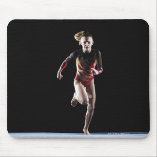 Gymnast (12-13) running on mat mouse pad