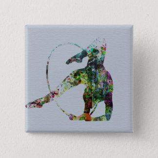 Gymnast 15 Cm Square Badge