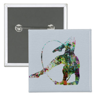 Gymnast 15 Cm Square Badge