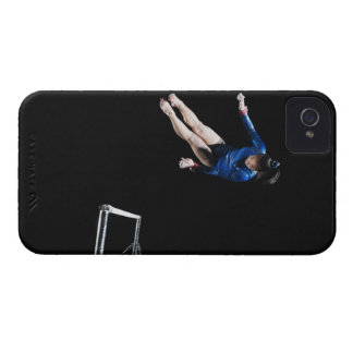 Gymnast (16-17) dismounting uneven bars iPhone 4 Case-Mate case
