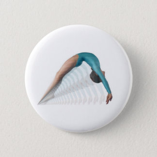 gymnast 6 cm round badge
