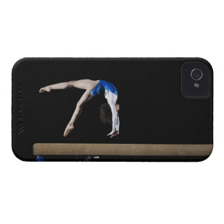 Gymnast (9-10) flipping on balance beam, side Case-Mate iPhone 4 cases