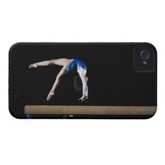 Gymnast (9-10) flipping on balance beam, side iPhone 4 covers