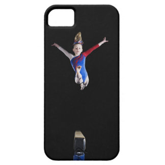 Gymnast (9-10) leaping on balance beam barely there iPhone 5 case