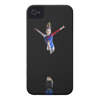 Gymnast (9-10) leaping on balance beam iPhone 4 cover