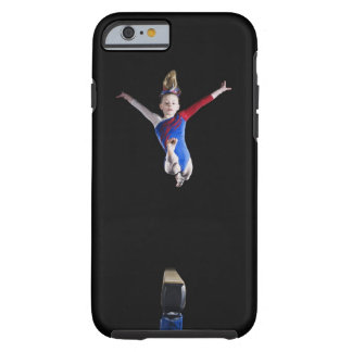 Gymnast (9-10) leaping on balance beam tough iPhone 6 case