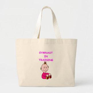 gymnast baby tote bag