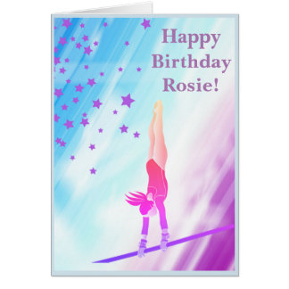 Gymnast Birthday Card