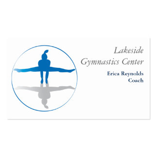 Gymnast Blue Gray Pack Of Standard Business Cards