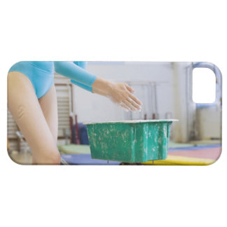 Gymnast chalking her hands iPhone 5 cases