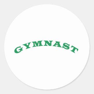 Gymnast Classic Round Sticker