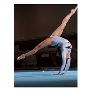Gymnast Competing in the Stadium Postcards