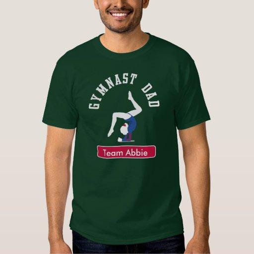 Gymnast Dad Custom Dark Tee Shirt