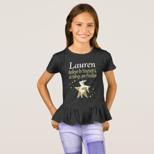 GYMNAST GIRL DREAMS PERSONALIZED T SHIRT