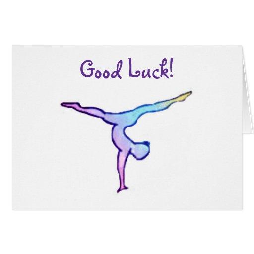 Gymnast Good Luck Card