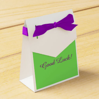 "Gymnast ""Good Luck"" Favor box Wedding Favour Box"