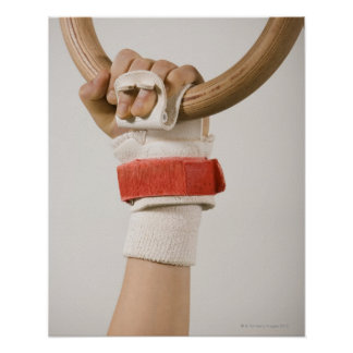 Gymnast hand holding ring poster