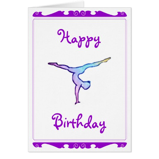 "Gymnast ""Happy birthday"" card"