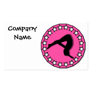 Gymnast in pink pack of standard business cards