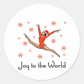 Gymnast Joy to the World Sticker