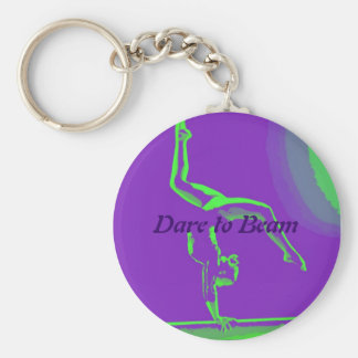 "Gymnast keychain ""Dare to Beam"""