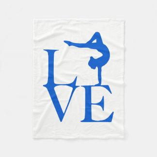 Gymnast Love Fleece Blanket