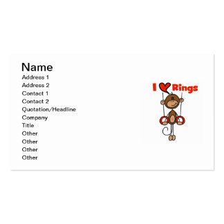 Gymnast Loves Rings Double-Sided Standard Business Cards (Pack Of 100)