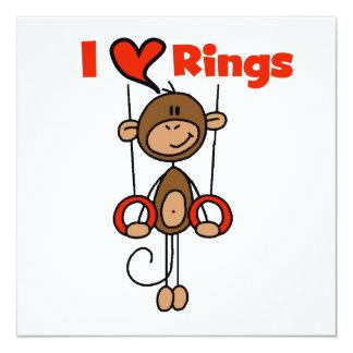 Gymnast Loves Rings 13 Cm X 13 Cm Square Invitation Card