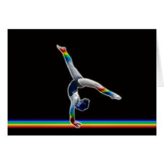 Gymnast on a Rainbow Beam Card