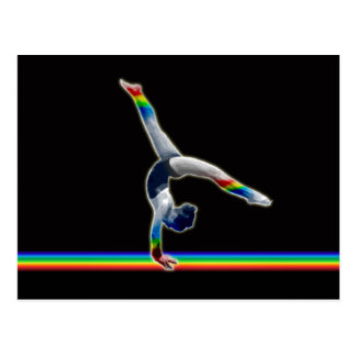 Gymnast on a Rainbow Beam Postcard