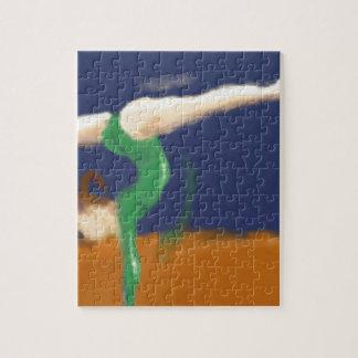 Gymnast on Balance Beam Art Puzzle